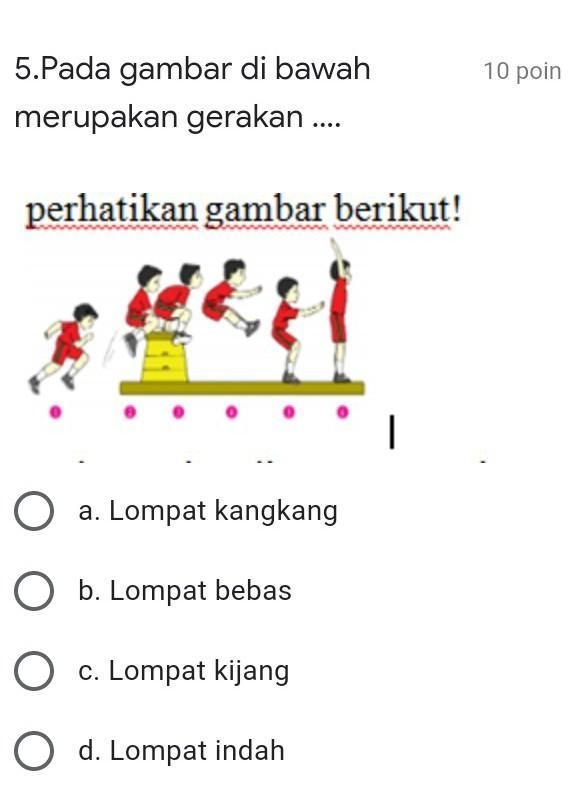 Lompat Kangkang : lompat, kangkang, Gambar, Bawah, Merupakan, Gerakan, ….a., Lompat, Kangkangb., Bebasc., Kijangd., Brainly.co.id