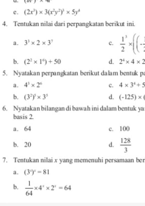 Sederhanakan Perpangkatan Berikut Ini Latihan 1.2 Kelas 9 : sederhanakan, perpangkatan, berikut, latihan, kelas, Jawaban, Nomor, 7&9, Halaman, Latihan, Perkalian, Perpangkatan, Paket, Kelas, Brainly.co.id