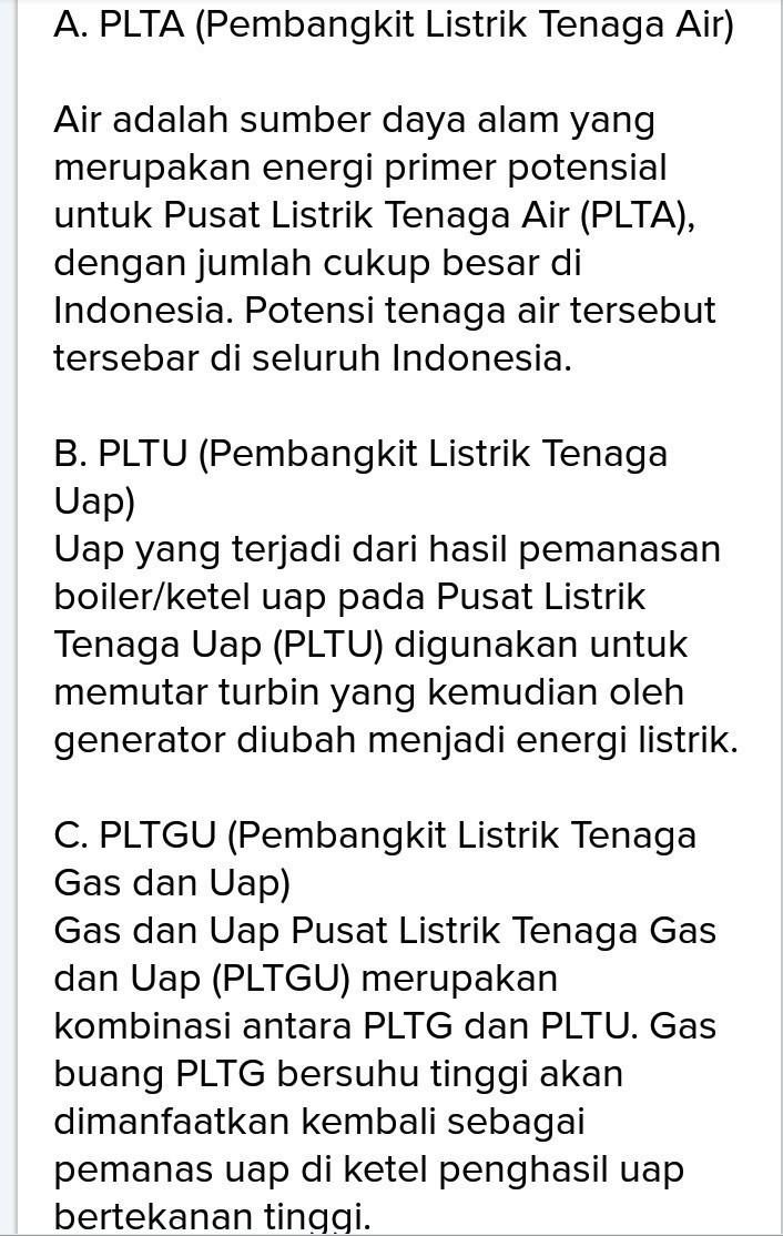 Jelaskan Macam : jelaskan, macam, Jelaskan, Macam, Pembangkit, Listrik, Indonesia..., Tolong, Jawab, Brainly.co.id