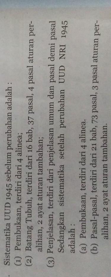 Sistematika Uud 1945 Sebelum Dan Sesudah Amandemen : sistematika, sebelum, sesudah, amandemen, Sebutkan, Sistematika, Sebelum, Sesudah, Amandemen, Brainly.co.id