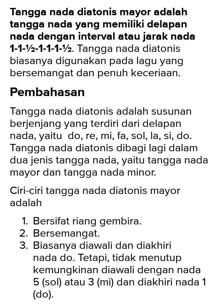 Pengertian Tangga Nada Minor : pengertian, tangga, minor, Jelaskan, Maksud, Tangga, Berikut, Inia., Dianotisb., Dianotis, Mayor, Brainly.co.id