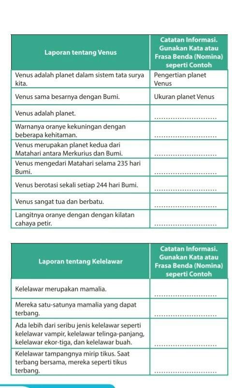 Laporan Tentang Kelelawar : laporan, tentang, kelelawar, Laporan, Tentang, Venus, Kelelawar, Brainly.co.id