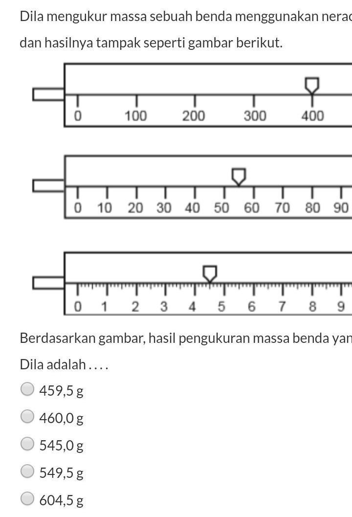 Mengukur Massa : mengukur, massa, Mengukur, Massa, Sebuah, Benda, Menggunakan, Neraca, Ohaus, Hasilnya, Tampak, Seperti, Gambar, Brainly.co.id