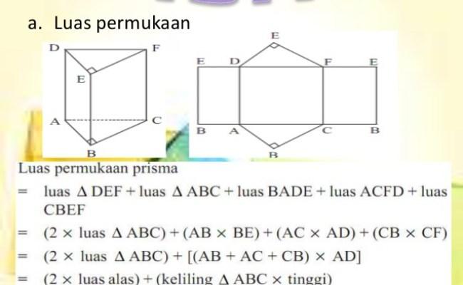 Prisma Rumus Volume Prisma Dan Luas Permukaan Prisma Cute766