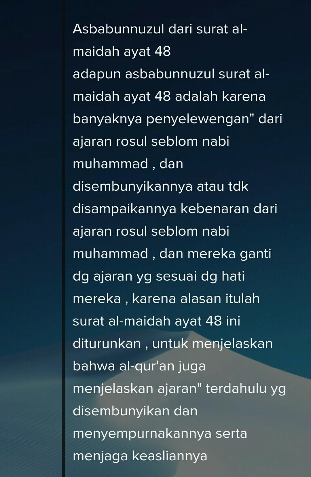 Almaidah Ayat 48 : almaidah, Asbabul, Nuzul, Maidah, Brainly.co.id