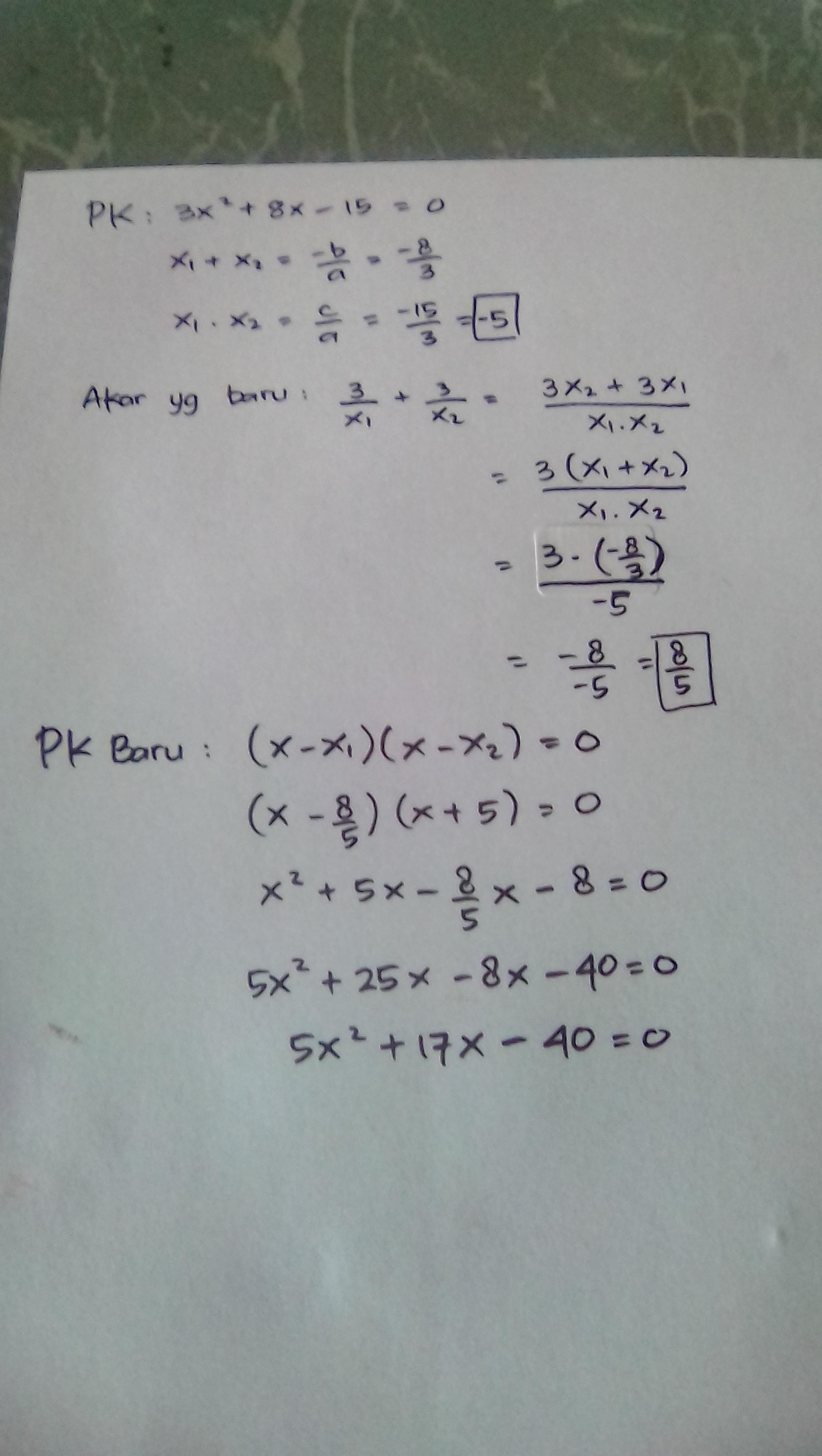 Persamaan dan pertidaksamaan kuadrat | Make a suggestion