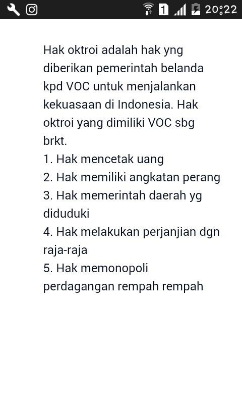 Hak Oktroi Voc Adalah : oktroi, adalah, Tuliskan, Oktroi, Brainly.co.id