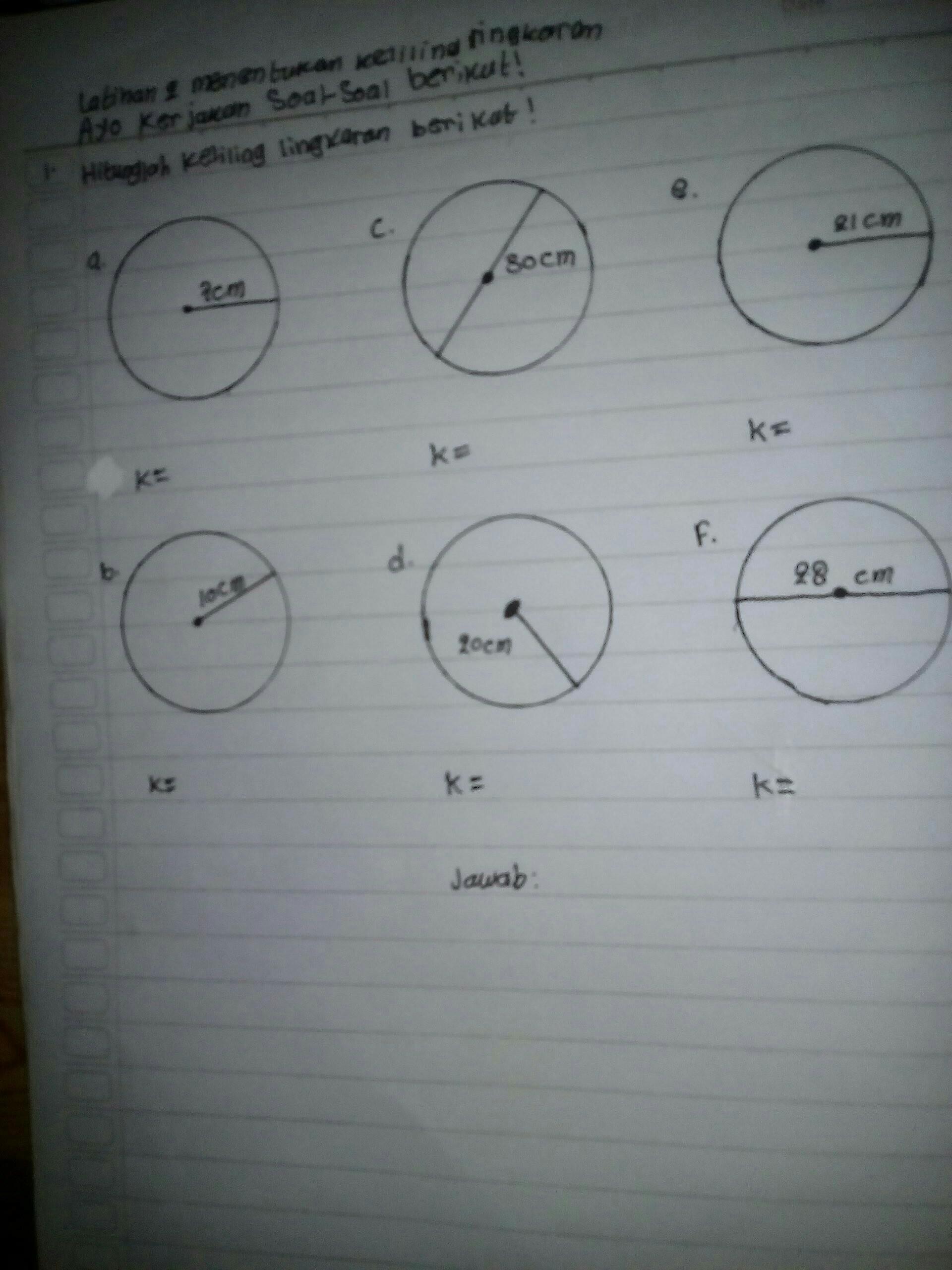 Cara Menghitung Keliling Lingkaran : menghitung, keliling, lingkaran, Hitunglah, Keliling, Lingaran, Berikut, Tolong, Jawab, Dengan, Brainly.co.id