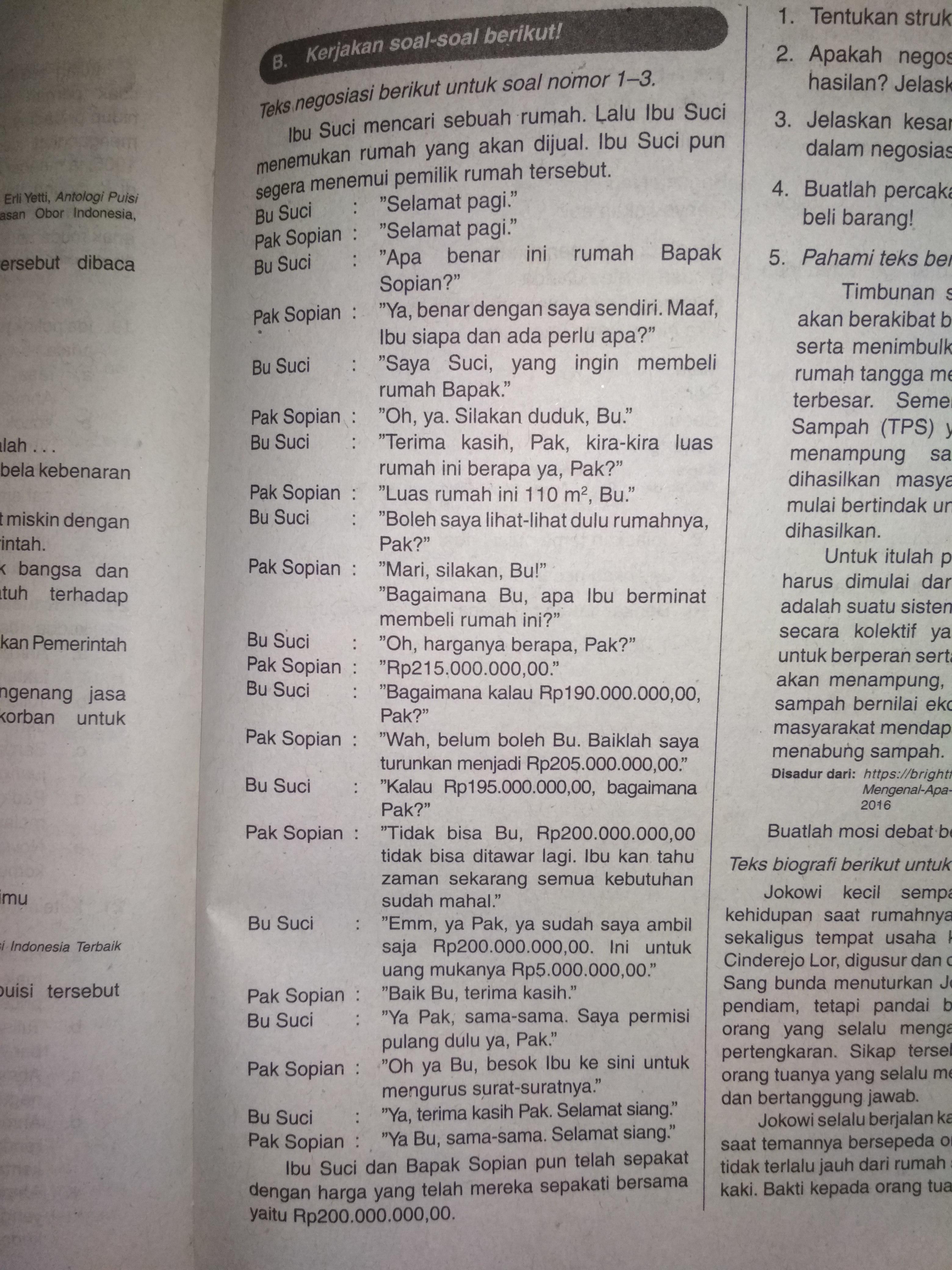 Teks Negosiasi Singkat : negosiasi, singkat, Tentukan, Struktur, Negosiasi, Tersebut?, Apakah, Tersebut, Mencapai, Keberhasilan?, Brainly.co.id