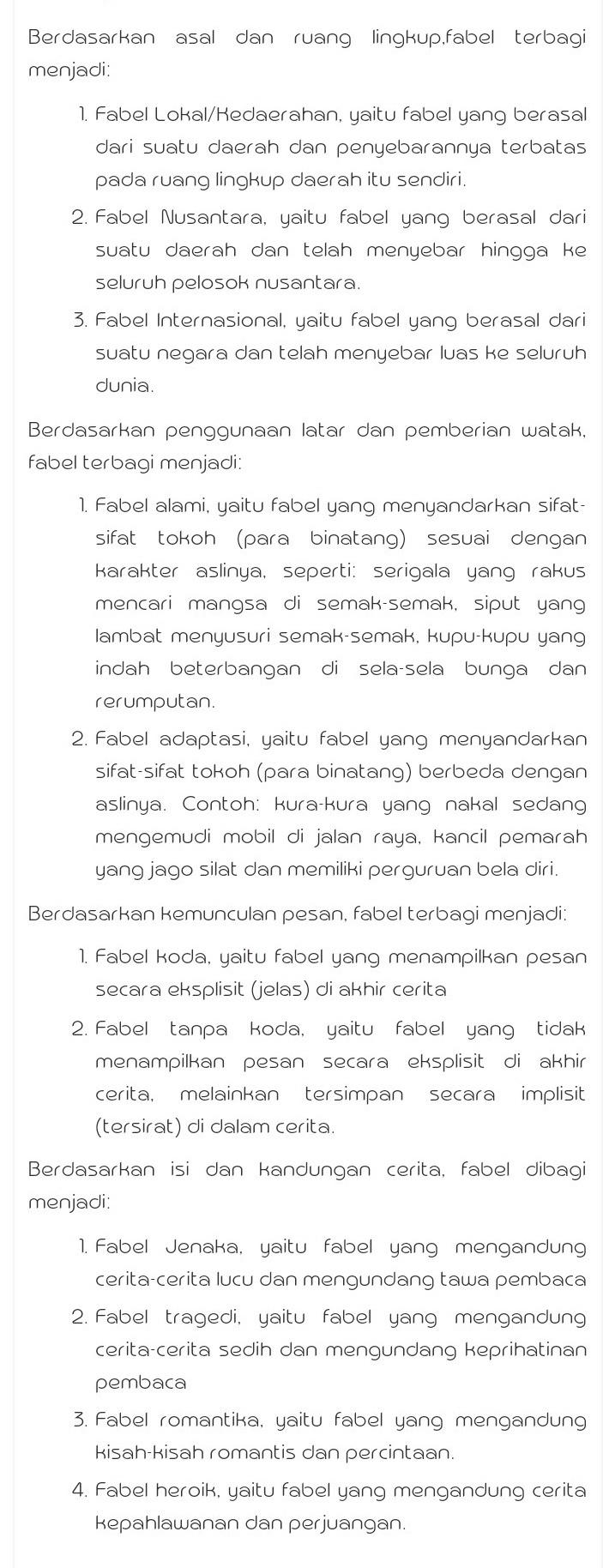 Jenis Jenis Fabel : jenis, fabel, Menjelaskan, Jenis, Cerita, Fabel, Brainly.co.id