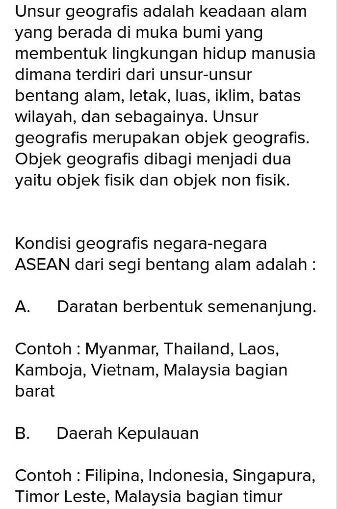 Bentang Alam Kamboja : bentang, kamboja, Kondisi, Geografis, Seluruh, Negara, ASEAN, Brainly.co.id