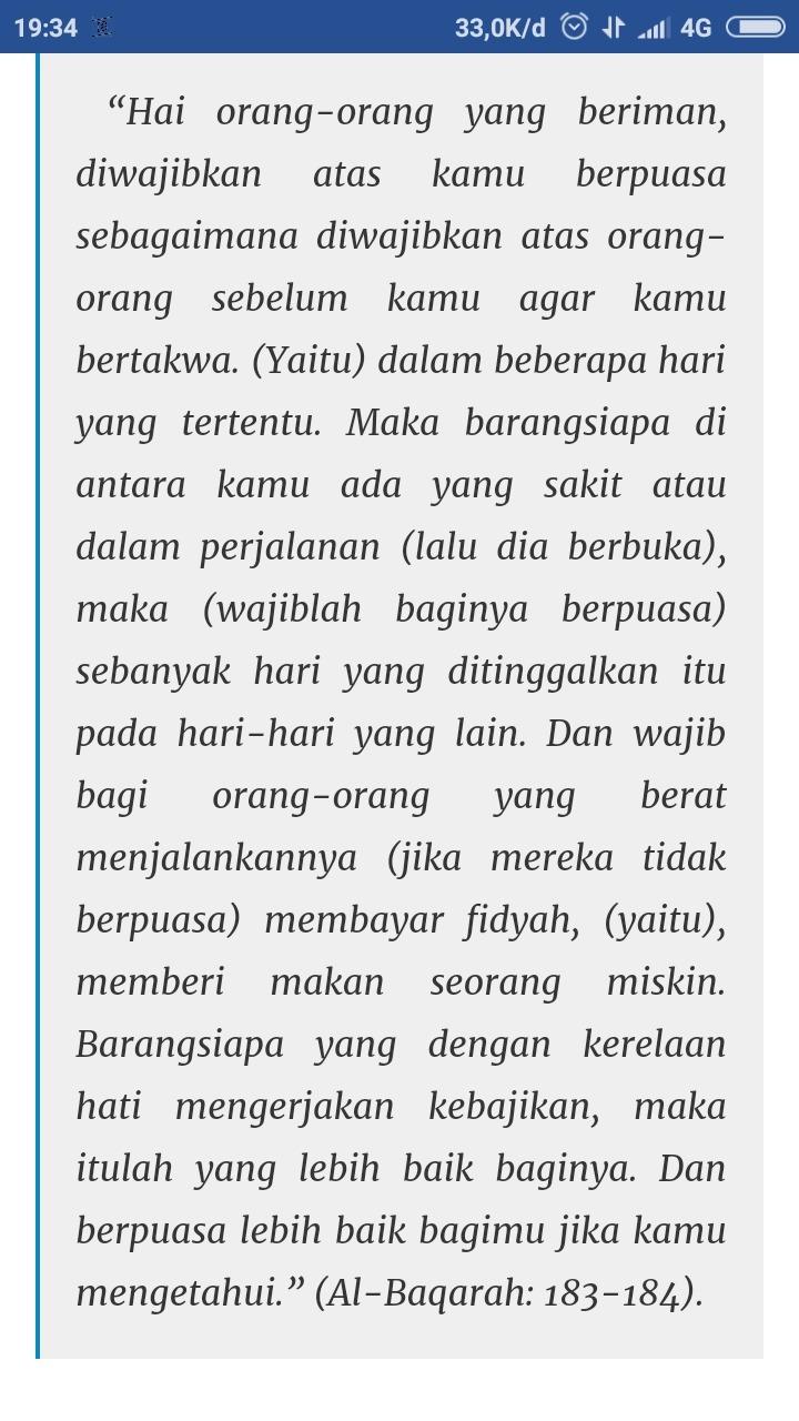 Al Baqarah Ayat 183 Dan Artinya : baqarah, artinya, Surah, Baqarah, 183-184, Artinya, Brainly.co.id