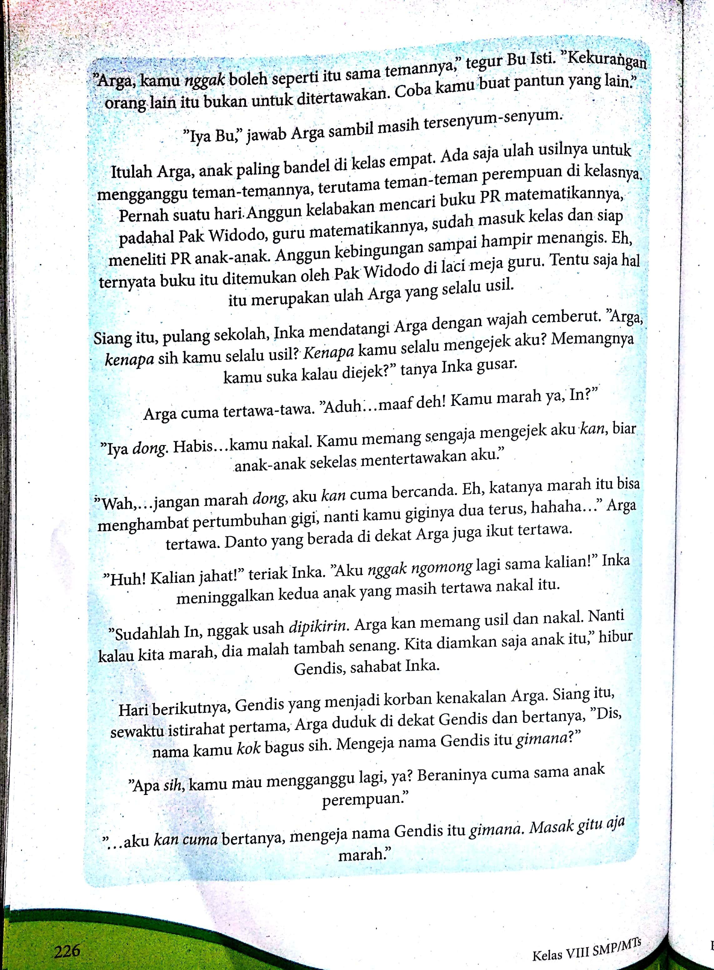 Kegiatan 8.8 Bahasa Indonesia Kelas 8 Halaman 224 : kegiatan, bahasa, indonesia, kelas, halaman, Paket, Bahasa, Indonesia, Kelas, Halaman