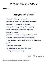 Pantun Bahasa Bali : pantun, bahasa, Kumpulan, Contoh, Puisi, Modern, Terbaik