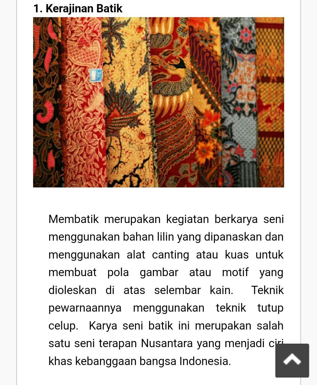 Jenis Jenis Kerajinan Nusantara : jenis, kerajinan, nusantara, Jenis, Kerajinan, Tekstil, Dengan, Keterangan, Gambar, Brainly.co.id