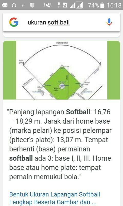 Lapangan Softball Berbentuk : lapangan, softball, berbentuk, Gambar, Lapangan, Softball, Beserta, Ukurannya, Posisi, Pemainnya