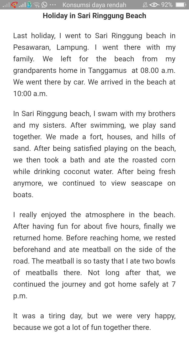 Contoh Recount Text Tentang Liburan Ke Pantai Beserta Artinya : contoh, recount, tentang, liburan, pantai, beserta, artinya, Contoh, Recount, Tentang, Liburan, Pantai, Parangtritis, Barisan