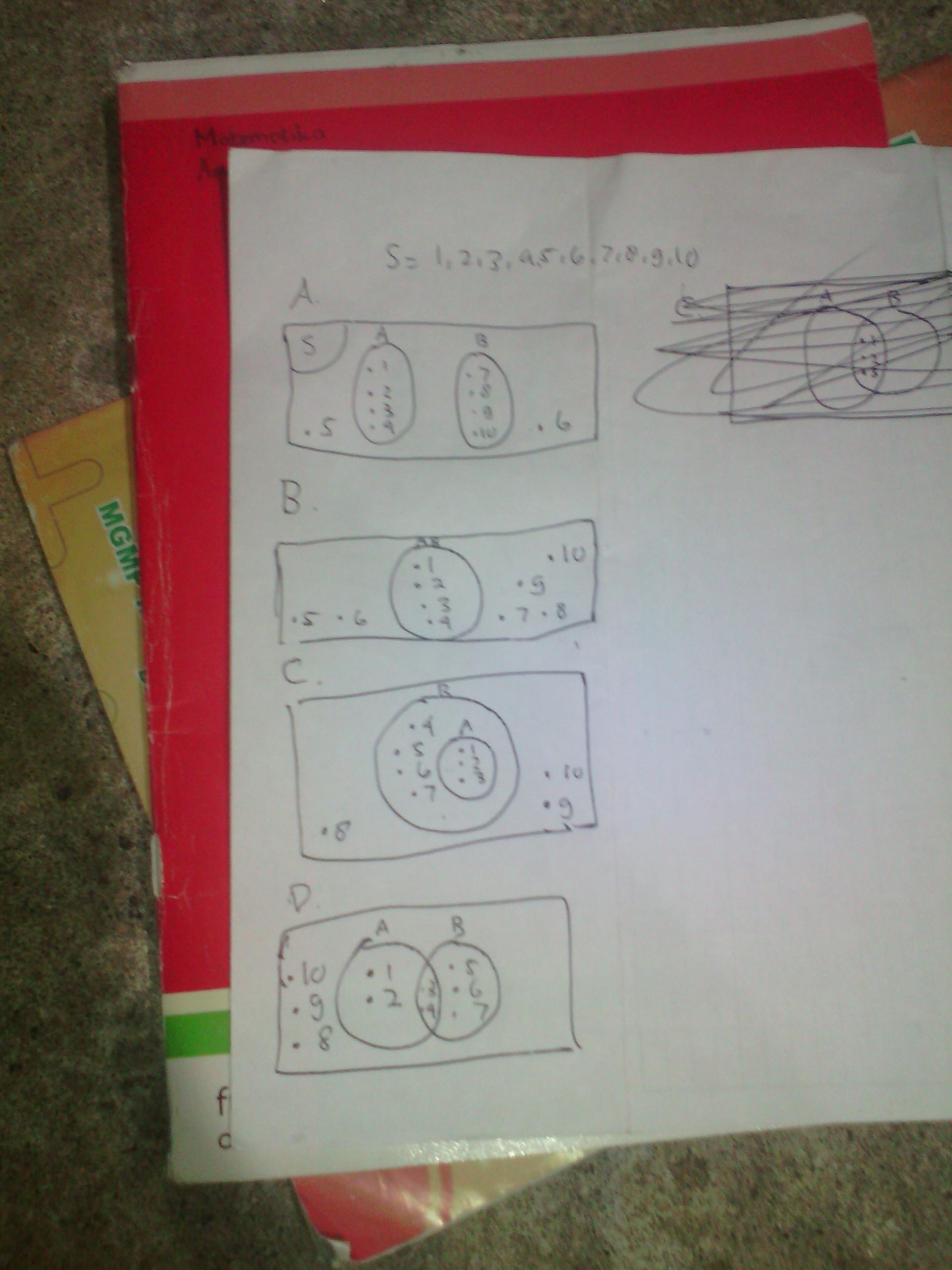 Jika Himpunan : himpunan, Gambarlah, Diagram, Himpunan, {1,2,3,4,5,6,7,8,9,10}, A.himpunan, ={1,2,3,4}, Brainly.co.id