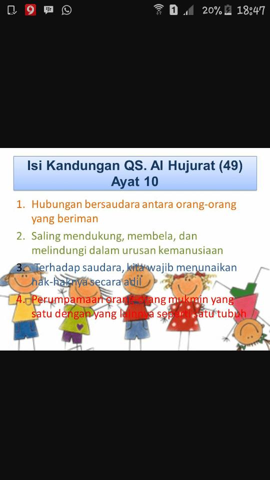 Kandungan Qs Al Hujurat Ayat 10 : kandungan, hujurat, Al-hujurat/49:10, Mengandung, Pesan, Mulia., Jelaskan, Kandungan, Brainly.co.id
