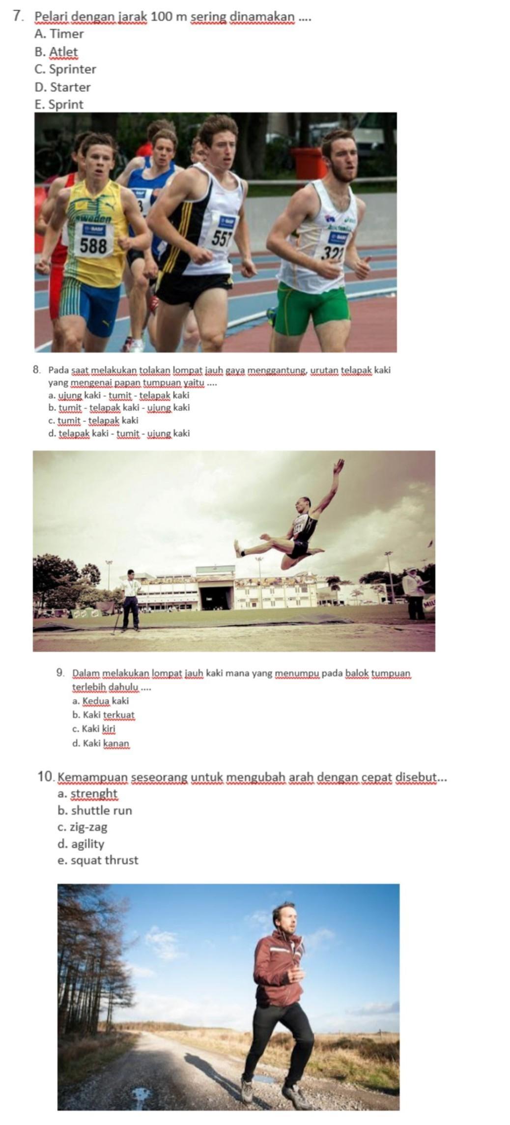 Atlet Jarak Pendek Disebut : atlet, jarak, pendek, disebut, TolongggCpetttt:)TolongBangett:), Brainly.co.id