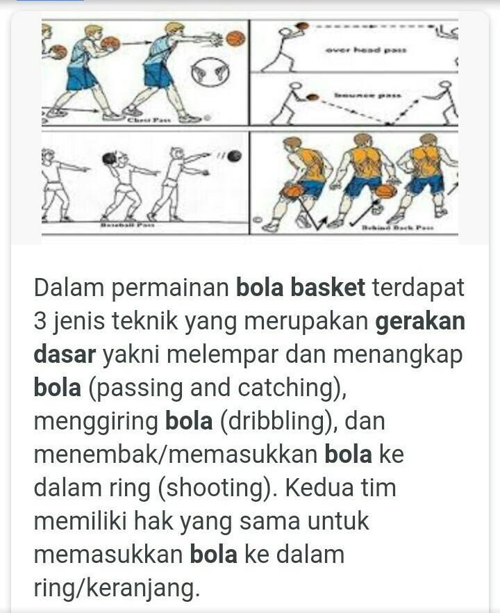 Cara Bermain Bola Basket dengan Baik dan Benar - Guratgarut