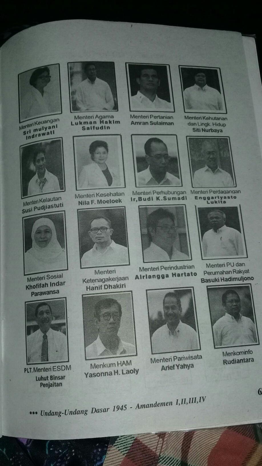 Sebutkan Nama Nama Kabinet Yang Pernah Ada Di Indonesia : sebutkan, kabinet, pernah, indonesia, Sebutkan, Sepuluh, Menteri, Beserta, Jabatannya, Tergabung, Dalam, Kabinet, Kerja, Brainly.co.id