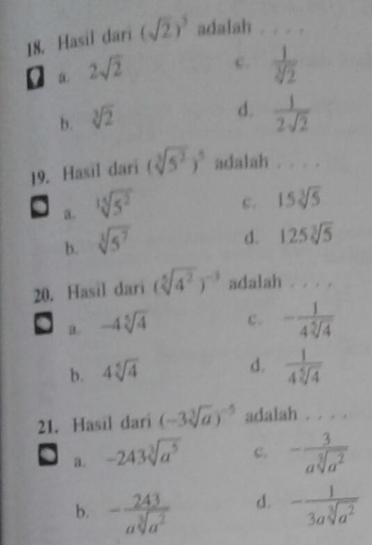 Akar Pangkat 2 : pangkat, Hasil, Pangkat, Brainly.co.id