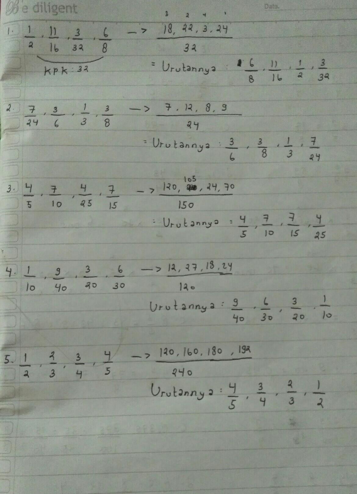 Urutan Bilangan Pecahan : urutan, bilangan, pecahan, Urutan, Bilangan.pecahan, Berikut, Terbesar, 1.1/2,11/16,3/32,6/8, Brainly.co.id