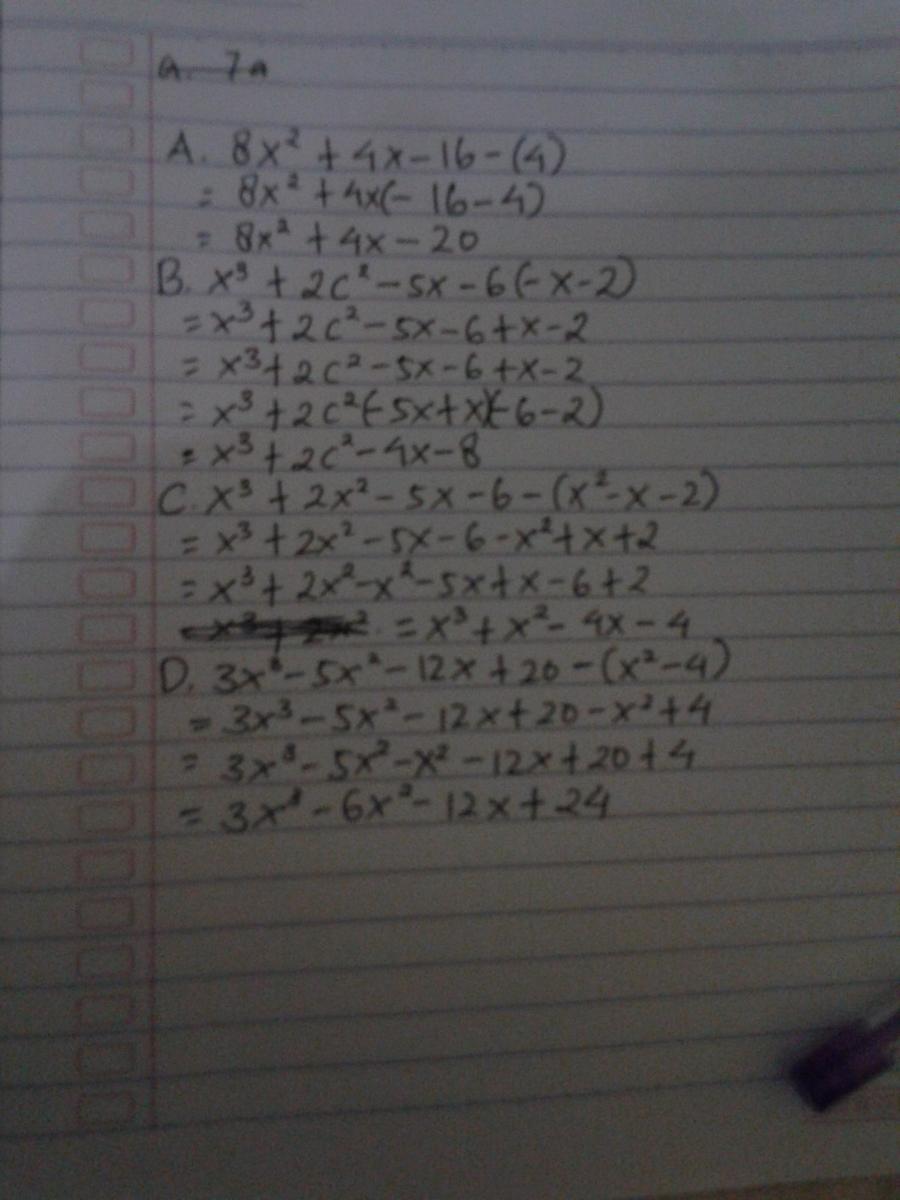 Tentukan Hasil Bagi Bentuk Aljabar Berikut : tentukan, hasil, bentuk, aljabar, berikut, Tentukan, Hasil, Bentuk, Aljabar, Berikut, A.8x2+4x-16, B.x3+2c2-5x-6, C.x3+2x2-5x-6, Brainly.co.id