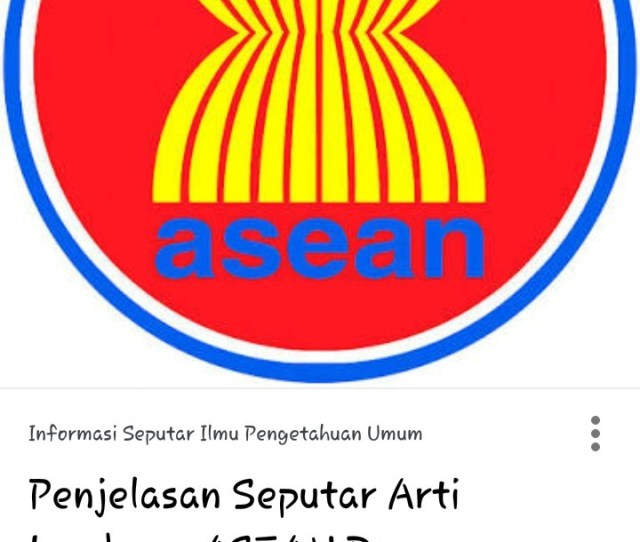 Gambar Lambang Asean Brainly Co Id