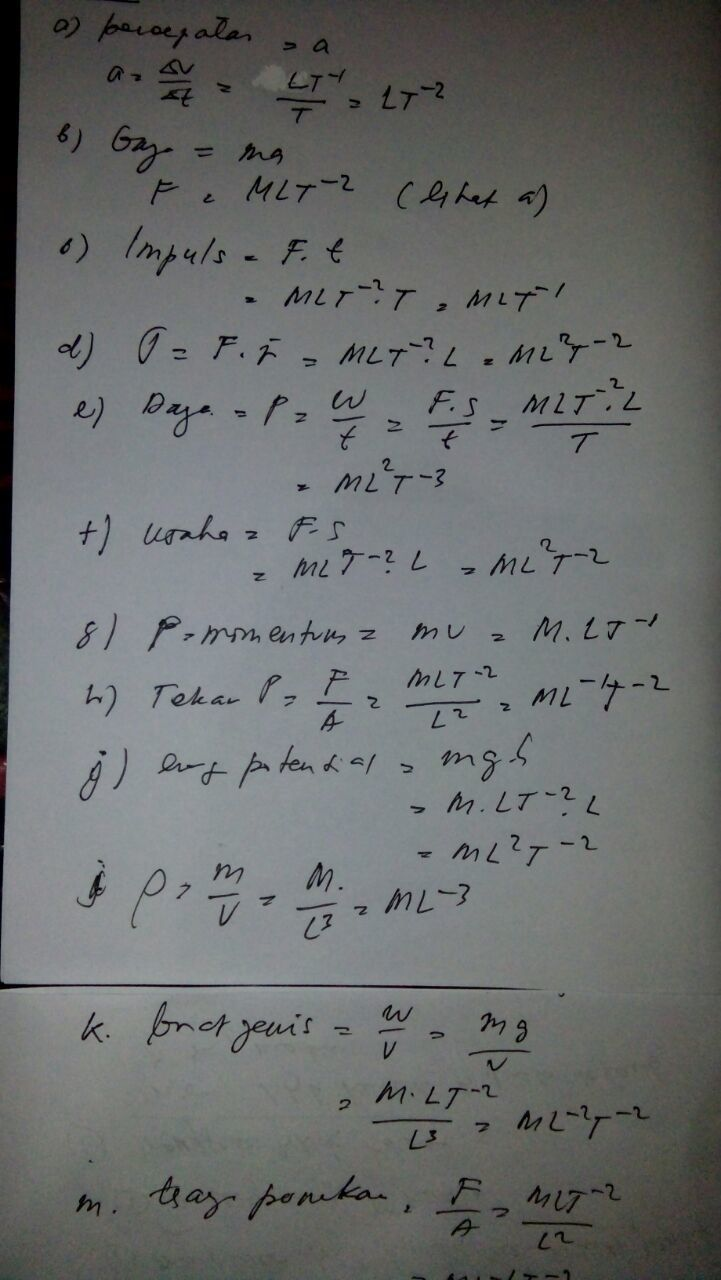 Tentukan Dimensi Dari Besaran Besaran Berikut : tentukan, dimensi, besaran, berikut, Carilah, Dimensi, Dari:, Percepatan, Massa, Impuls, Selang, Waktu, Momen, Brainly.co.id