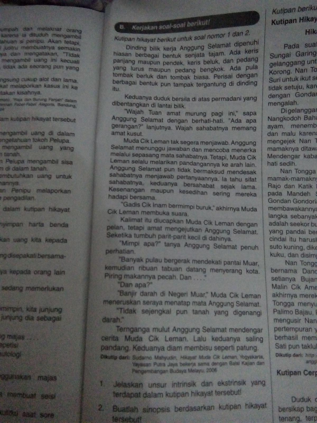 Unsur Ekstrinsik Hikayat : unsur, ekstrinsik, hikayat, Jelaskan, Unsur, Intrinsik, Ekstrinsik, Terdapat, Dalam, Kutipan, Hikayat, Tersebut, Brainly.co.id