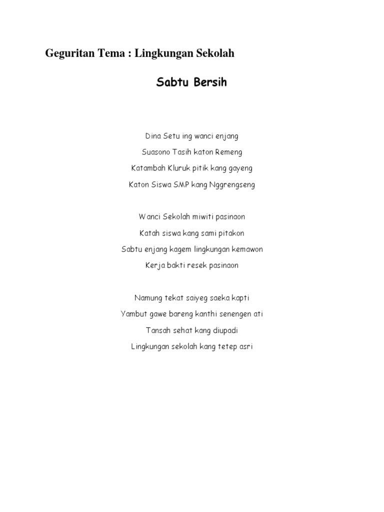Geguritan Bahasa Jawa Singkat : geguritan, bahasa, singkat, Kumpulan, Contoh, Puisi, Bahasa, Tentang, Sekolah, Terbaik