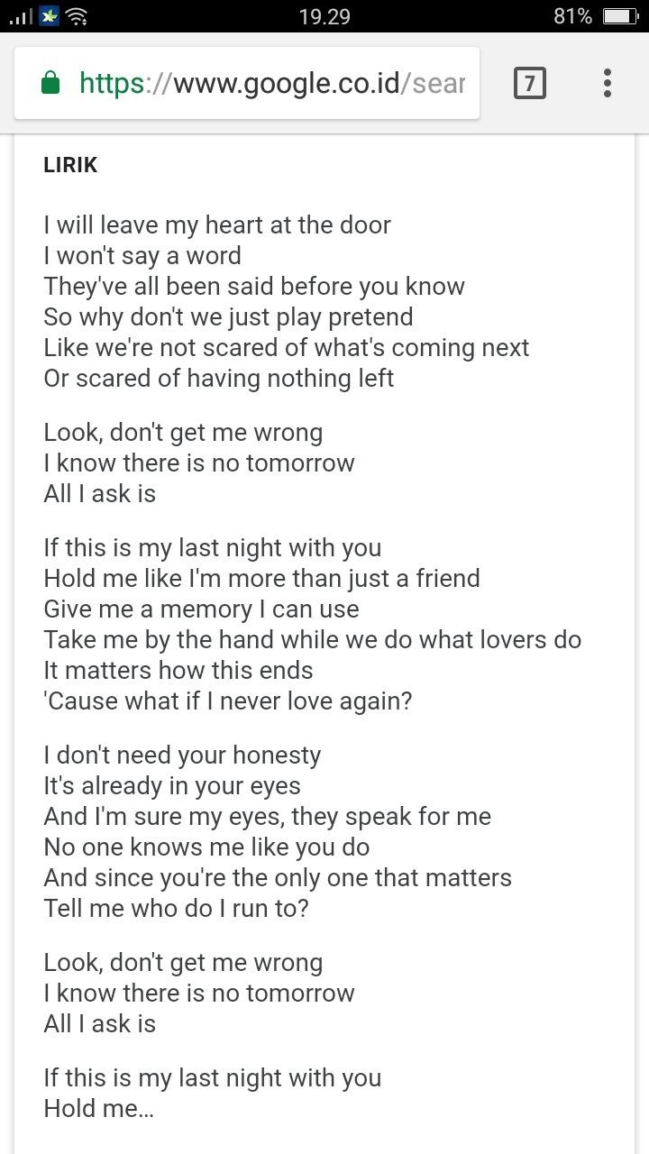 Makna Lagu All I Ask : makna, Lirik, Matters, Arsia