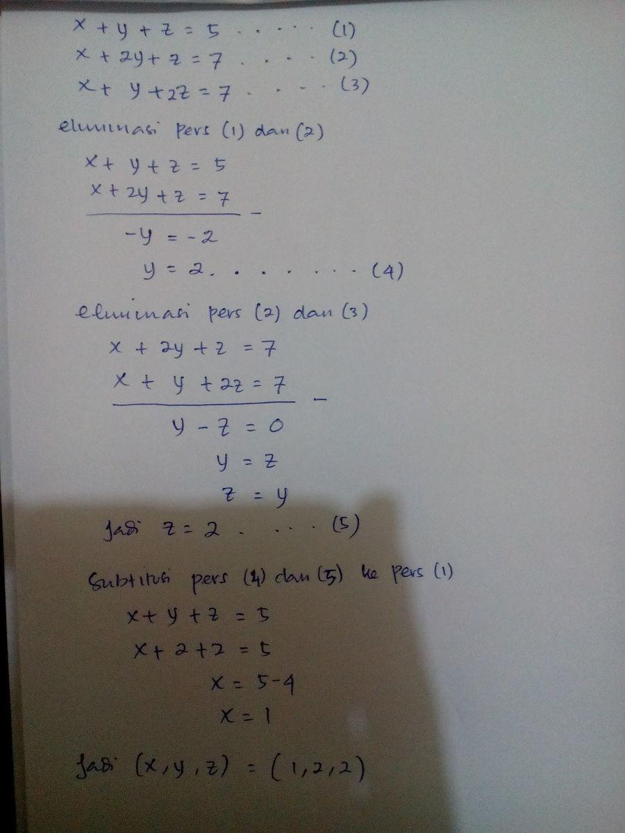 Soal Dan Jawaban Matematika Kelas 10 Tentang Spltv