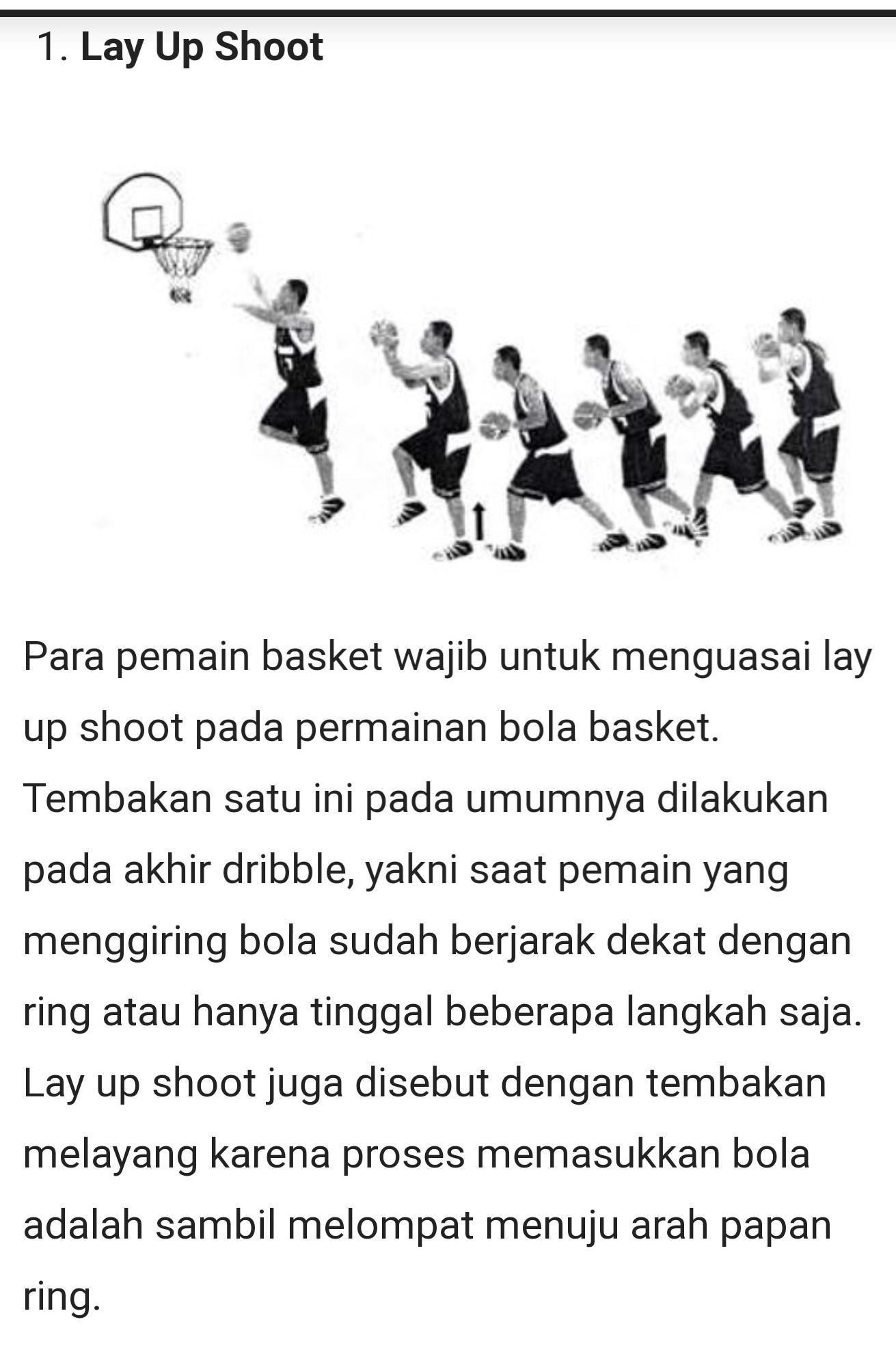 Lay Up Shoot Dalam Bola Basket : shoot, dalam, basket, Tembakan, Basket, Sambil, Melompat, Dengan, Posisi, Dekat, Shoot?(plis, Brainly.co.id
