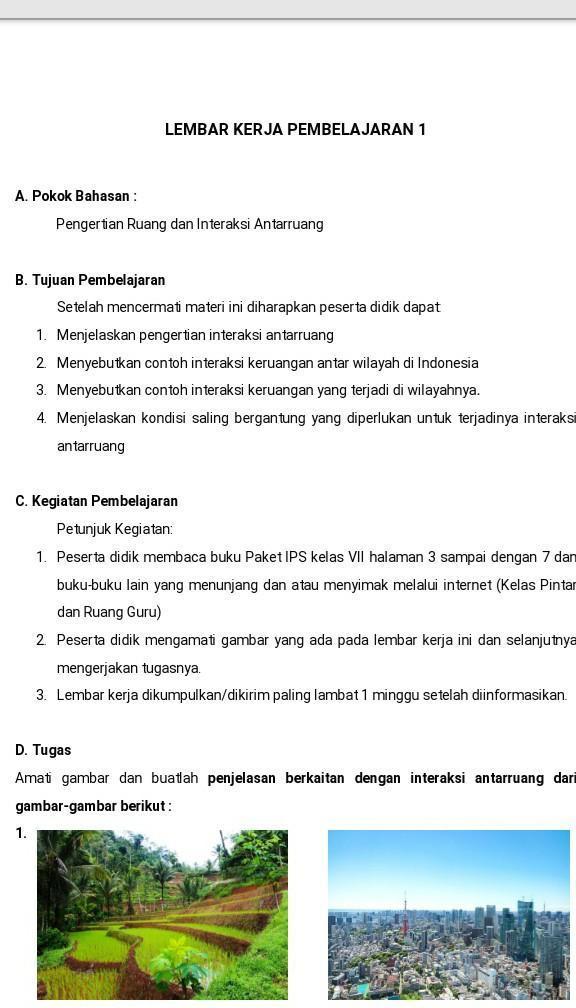 Interaksi Antar Wilayah : interaksi, antar, wilayah, Jelaskan, Interaksi, Antar, Ruang, Gambar, Berikut, Brainly.co.id