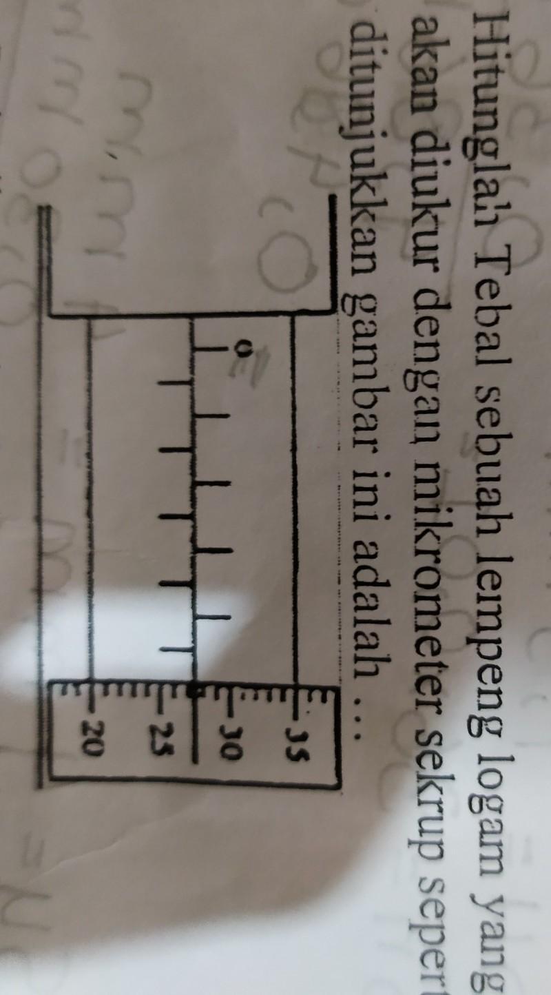 Hasil Ukuran Yang Ditunjukkan Oleh Mikrometer Sekrup Di Bawah Ini Adalah : hasil, ukuran, ditunjukkan, mikrometer, sekrup, bawah, adalah, Hitunglah, Tebal, Sebuah, Lempeng, Logam, Yangakan, Diukur, Dengan, Mikrometer, Sekrup, Sepertiditunjukkan, Brainly.co.id