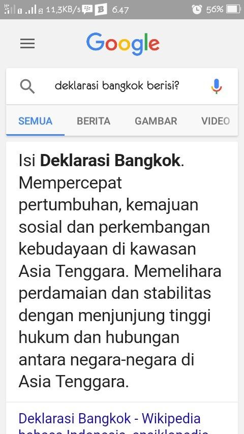 Isi Deklarasi Bangkok : deklarasi, bangkok, Deklarasi, Bangkok, Berisi, Brainly.co.id