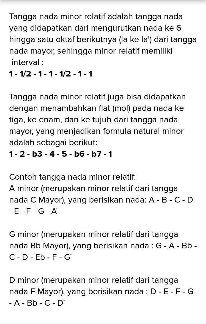 Apa Pengertian Tangga Nada Mayor : pengertian, tangga, mayor, Jelaskan, Dimaksud, Dengan, Tangga, Minor, Relatif, ,lalu, Berikan, Contohnya, Brainly.co.id