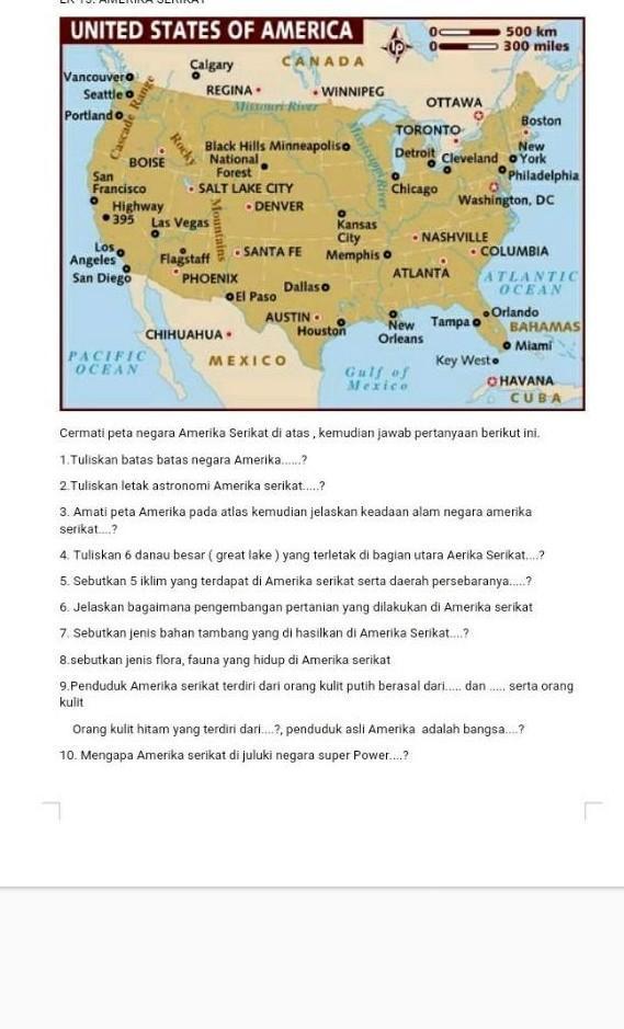 Letak Astronomis Meksiko : letak, astronomis, meksiko, Batas, Bataa, Negara, Amerika, Brainly.co.id