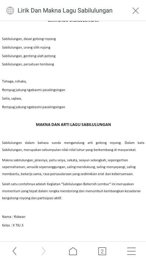 Lirik Lagu Sabilulungan : lirik, sabilulungan, Lirik, Sabilulungan, Artinya, Dalam, Bahasa, Indonesia, Brainly.co.id