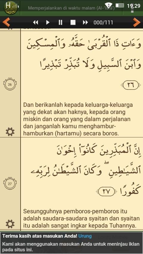 Al Isra Ayat 26-27 : 26-27, Surat, Ayat26,27, Brainly.co.id