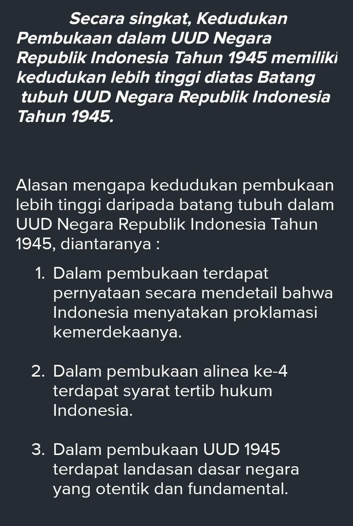 4+ Tujuan Negara Indonesia dalam Pembukaan UUD 1945