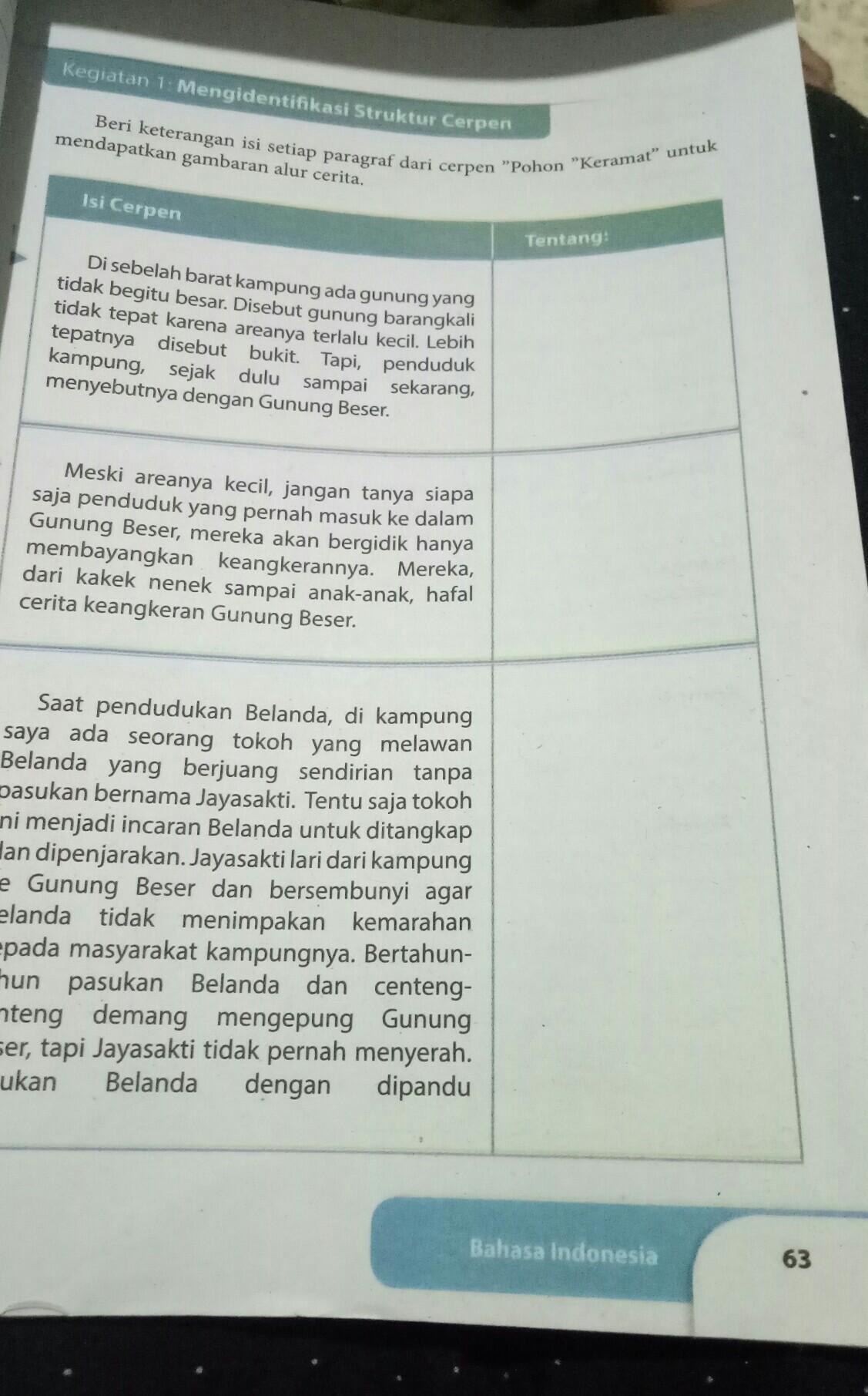 Maybe you would like to learn more about one of these? Jawaban Bahasa Indonesia Kelas 9 Hal 63 Sampai Halaman 75 Tolong Dijwb Ya Kak Besok Dikumpulkan Brainly Co Id