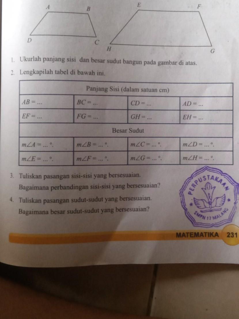Buku Paket Matematika Kelas 9 : paket, matematika, kelas, Kunci, Jawaban, Matematika, Kelas, Kegiatan, Halaman, Brainly.co.id