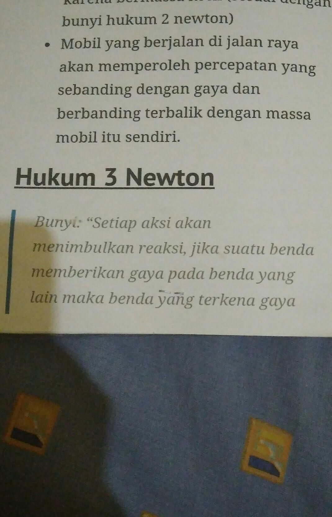 Tuliskan Bunyi Hukum 3 Newton : tuliskan, bunyi, hukum, newton, Bagaimana, Bunyi, Hukum, Newton?, Berikan, Contoh, Penerapannya., Brainly.co.id