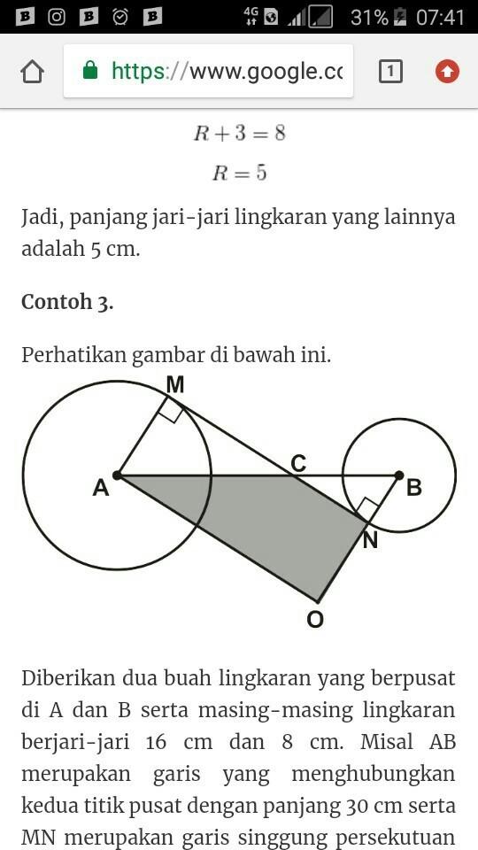Contoh Soal Garis Singgung Lingkaran : contoh, garis, singgung, lingkaran, Contoh, Materi, Pelajaran, Garis, Singgung, Persekutuan, Dalam