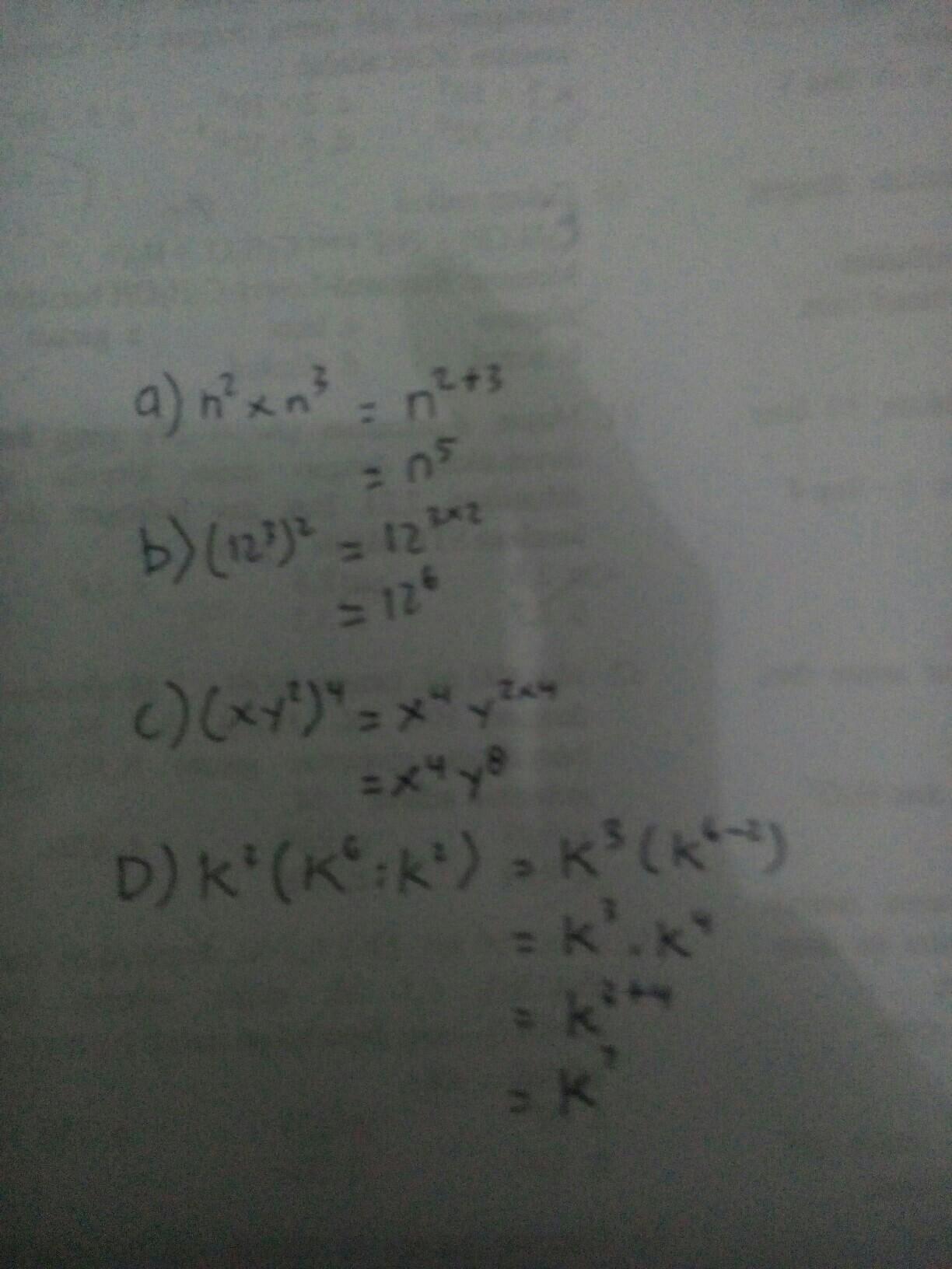 Tuliskan Dalam Bentuk Pangkat Paling Sederhana : tuliskan, dalam, bentuk, pangkat, paling, sederhana, Tulislah, Dalam, Bentuk, Paling, Sederhana, (12³)², C.(xy²)⁴, K6:k²), Brainly.co.id