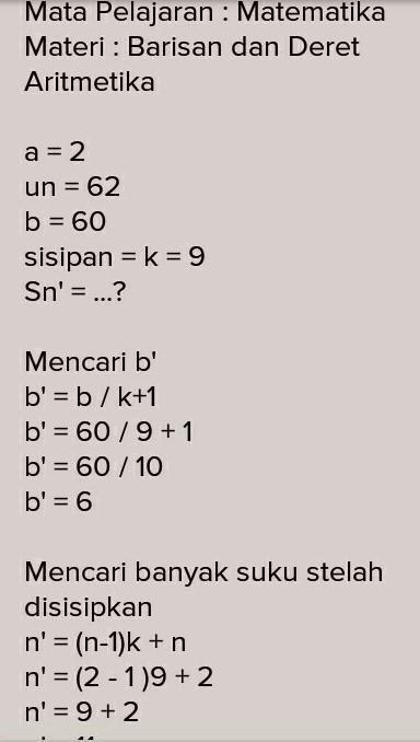 Bilangan 14 : bilangan, Diantara, Bilangan, Disisipkan, Sehingga, Membentuk, Barisan, Aritmatika,, Brainly.co.id